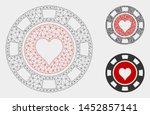mesh hearts casino chip model... | Shutterstock .eps vector #1452857141