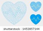 mesh heart pulse model with... | Shutterstock .eps vector #1452857144