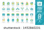 energy storage color icon set... | Shutterstock .eps vector #1452860231