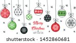merry christmas greeting card... | Shutterstock .eps vector #1452860681