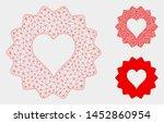 mesh hearts token model with... | Shutterstock .eps vector #1452860954