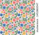 trendy seamless vector floral... | Shutterstock .eps vector #1452883547