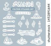vector set of scandinavian... | Shutterstock .eps vector #1452891644
