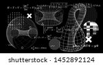 abstract scientific background... | Shutterstock .eps vector #1452892124