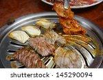 korean cuisine   barbecue grill | Shutterstock . vector #145290094