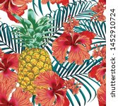 Seamless Pattern Tropical...