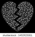 bright mesh broken heart with... | Shutterstock .eps vector #1452925301