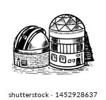 observatory to observe the... | Shutterstock .eps vector #1452928637