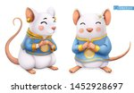 rat  mouse  funny animal in the ... | Shutterstock .eps vector #1452928697