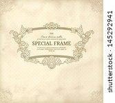 detailed retro frame with polka ... | Shutterstock .eps vector #145292941
