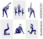 set of beautiful fitness logo...   Shutterstock .eps vector #1452941747