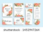 large set of wedding stationery ... | Shutterstock .eps vector #1452947264