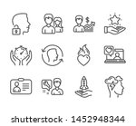 set of people icons  such as... | Shutterstock .eps vector #1452948344