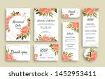 large set of wedding stationery ... | Shutterstock .eps vector #1452953411