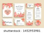 large set of wedding stationery ... | Shutterstock .eps vector #1452953981