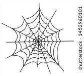 halloween icons  thin... | Shutterstock .eps vector #1452960101