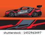 car decal wrap design vector.... | Shutterstock .eps vector #1452963497
