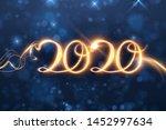 2020 new year shiny vector...   Shutterstock .eps vector #1452997634