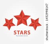 three red stars illustration... | Shutterstock .eps vector #1452998147