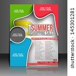 vector summer shopping flyer... | Shutterstock .eps vector #145301281