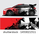 rally car decal graphic wrap...   Shutterstock .eps vector #1453021511