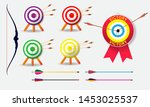 set of archery target with... | Shutterstock .eps vector #1453025537