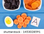 dried and fresh fruits with... | Shutterstock . vector #1453028591