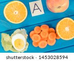 fresh fruits with vegetables... | Shutterstock . vector #1453028594