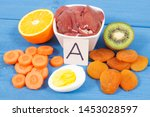 products or ingredients as... | Shutterstock . vector #1453028597