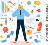 emotional burnout man grabbed... | Shutterstock .eps vector #1453050527