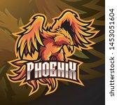 phoenix sport mascot logo design | Shutterstock .eps vector #1453051604