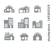 building icons | Shutterstock .eps vector #145305319