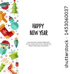 merry christmas and happy new... | Shutterstock .eps vector #1453060037
