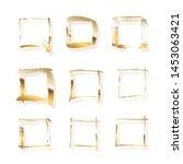 golden square frames made of... | Shutterstock .eps vector #1453063421