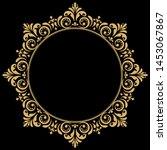decorative frame elegant... | Shutterstock . vector #1453067867