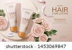 elegant hair care lotion ads...   Shutterstock .eps vector #1453069847