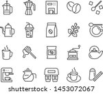 set of coffee line icons  such... | Shutterstock .eps vector #1453072067