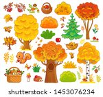 Vector Set With Autumn Trees...