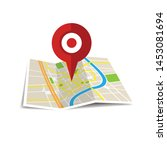 location icon vector. pin sign... | Shutterstock .eps vector #1453081694