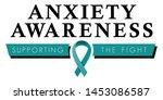 anxiety disorder awareness logo ... | Shutterstock .eps vector #1453086587