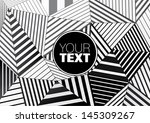 background of black and white... | Shutterstock .eps vector #145309267