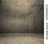 grungy concrete room ... | Shutterstock . vector #145309615