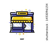 icon of small shop building or... | Shutterstock .eps vector #1453096154
