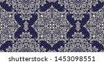 seamless pattern based on... | Shutterstock .eps vector #1453098551