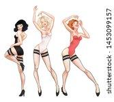 Beautiful Young Women Dancing...