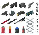 Gun Vector Handgun Shooting...