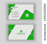 green stylish business card... | Shutterstock .eps vector #1453105004