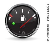 Fuel Gauge. Full Tank. Round...