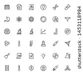 scientists line icon set.... | Shutterstock .eps vector #1453118984