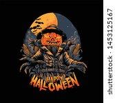 scarecrow vector design for... | Shutterstock .eps vector #1453125167